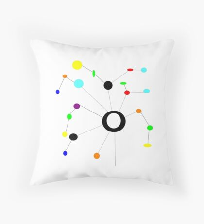 KINETIC mobile art image Throw Pillow