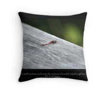 Small Creatures Throw Pillow