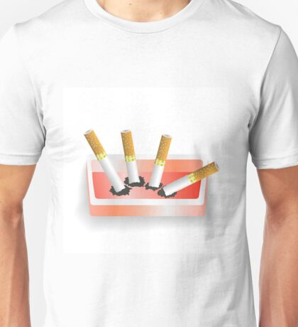 ashtray and cigarettes Unisex T-Shirt