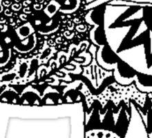 Hippie Elephant Design Sticker
