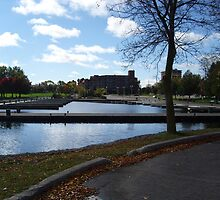 """""""Peterborough Harborfront late in the Fall"""" by crazymusician"""