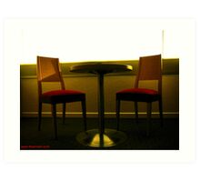 Room 2404 - table for two Art Print