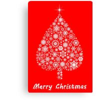 Marry Christmas tree Canvas Print