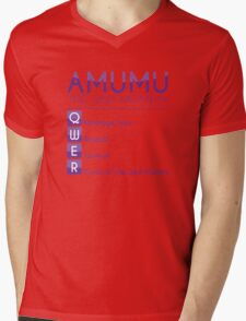 Champion Amumu Skill Set In Purple Mens V-Neck T-Shirt