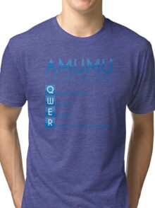 Champion Amumu Skill Set In Blue Tri-blend T-Shirt