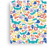 Pixar Pattern Canvas Print