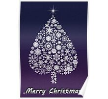 Marry Christmas tree Poster