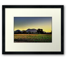 Stirling Sunset Framed Print