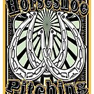 Horseshoe Pitching Western T-Shirt by ABSTRACT