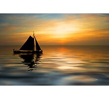 Sailing and sunset Photographic Print