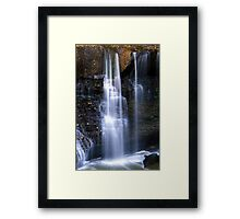 The Water Falls Framed Print
