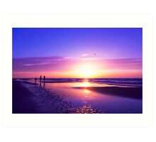 beautiful night on the beach Art Print