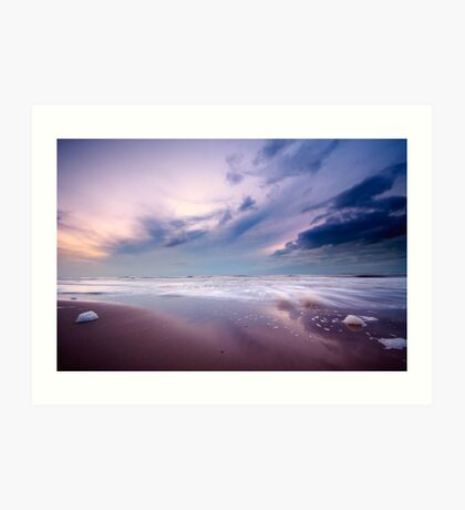 Ocean at night Art Print