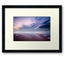 Ocean at night Framed Print