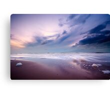 Ocean at night Canvas Print