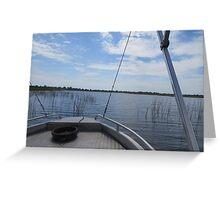 Boat Safari Greeting Card