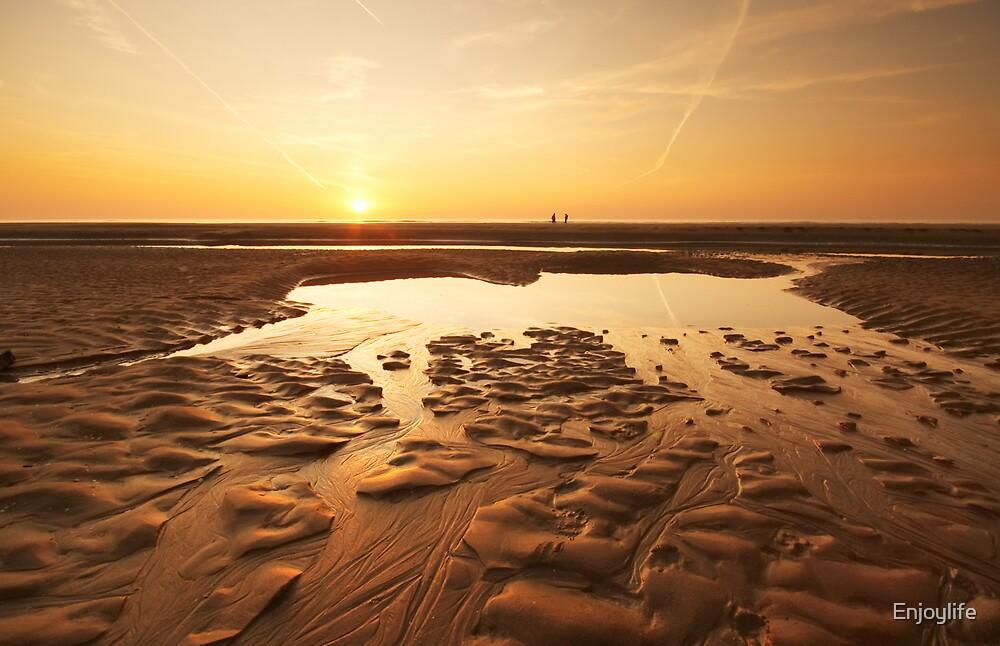 sunset evening on the beach by Enjoylife