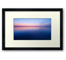 beautiful night at the beach Framed Print