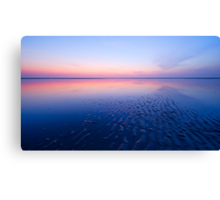 beautiful night at the beach Canvas Print