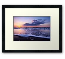 a beautiful night at the beach Framed Print