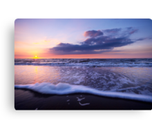 a beautiful night at the beach Canvas Print