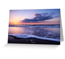 a beautiful night at the beach Greeting Card