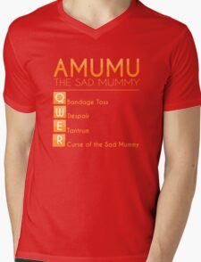 Champion Amumu Skill Set In Orange Mens V-Neck T-Shirt