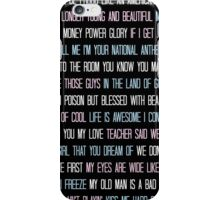 Lana Del Rey Lyrics Overload iPhone Case/Skin