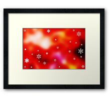 Snowflakes on red background Framed Print