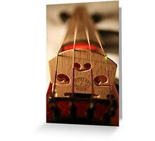 Electric Violin Greeting Card