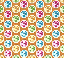 Gingerbread House Pattern - Swirl Christmas Candy by PatternPrint