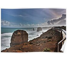 The Twelve Apostles with afternoon mist, Victoria, Australia Poster