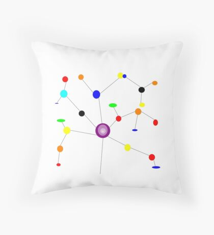KINETIC ART Throw Pillow