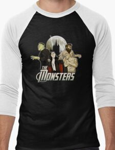 Monsters Assemble Men's Baseball ¾ T-Shirt