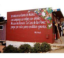 """""""La casa de las Flores"""" Pablo Neruda  Photographic Print"""
