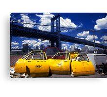New York Taxi Doors Canvas Print