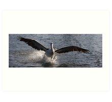 Landing with crosswind. Art Print