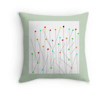 PINS picture art Throw Pillow