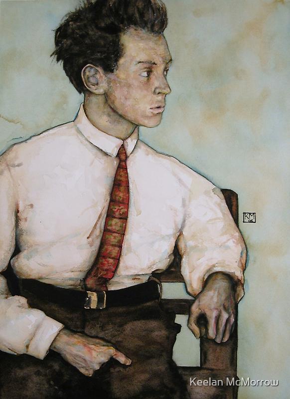 Egon Schiele by Keelan McMorrow