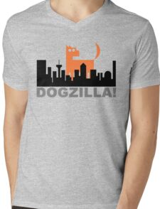 Dogzilla! Get down ya mongrel! Mens V-Neck T-Shirt