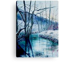 River Hileau in winter Canvas Print