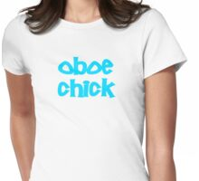 Oboe Chick Womens Fitted T-Shirt