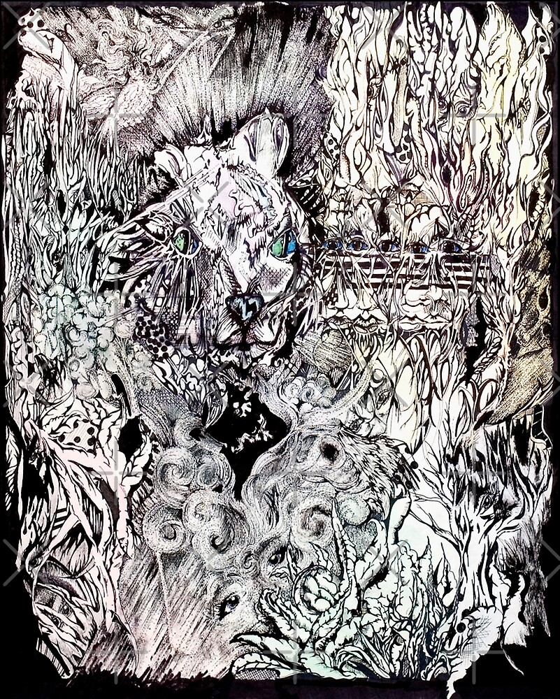 Hysteria, watercolor and ink by Danielle Scott