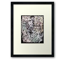 Hysteria, watercolor and ink Framed Print