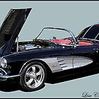 Little Black Corvette by Lisa  Weber