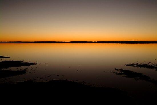 Sunrise, Lake Caroline, North Simpson Desert by Joe Mortelliti