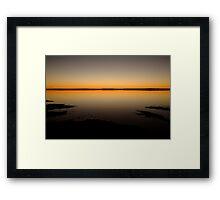 Sunrise, Lake Caroline, North Simpson Desert Framed Print
