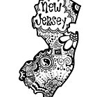 Hipster New Jersey Outline by alexavec