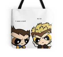 Puff Wolverine & Sabertooth - Xmen Tote Bag