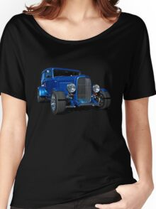 Blue Ford Hot Rod Women's Relaxed Fit T-Shirt